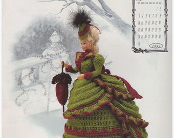 Crochet Pattern, Crochet Barbie Doll Gown Pattern, Fashion Doll Crochet Pattern