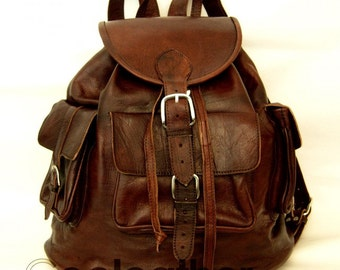 MyMate3 Backpack - Large All Leather Rucksack.