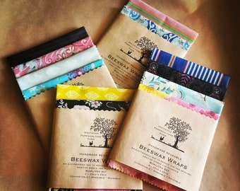 WHOLESALE PACK Beeswax Wrap Set