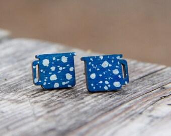 Tin Camping Cup Earring