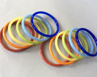 Twelve Glass Bangles Bracelet Set