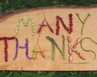 Many Thanks Farm- to -Table style blank greeting card