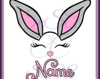 Bunny SVG Easter Custom Name Cross Flower Christ Name Pattern Bunny Basket Hunt Peep Chick Boy Girl Life Bow Ribbon 2018 Cricut Vinyl Decal.