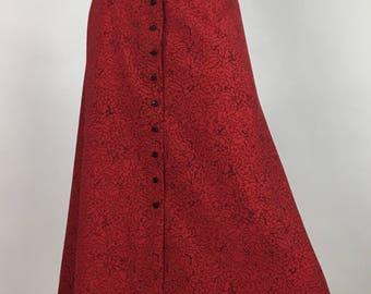 Vintage midi swing skirt/Rena Rowan for Saville midi