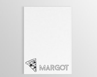 Personalized Pizza Notepad ~ Personalized Notepad ~ Personalized Gift ~ Personalized Stationary ~ Custom Notepad ~ Pizza Gift