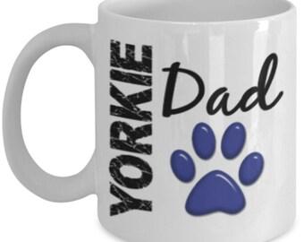 Yorkie Mug - Yorkie coffee mug - Yorkie Dad