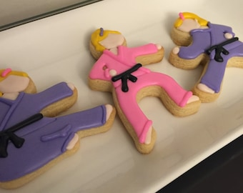 Karate Girl Cookies