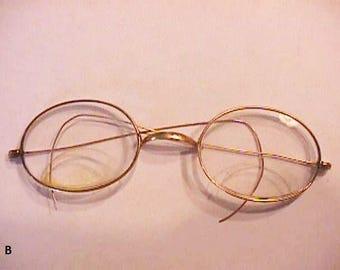 Antique Bi-Focal Gold Rimmed Glasses (B)