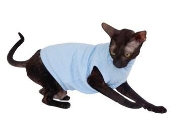 Kotomoda CAT WEAR Turtleneck maxi Pajamas Light blue