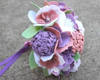"""12 Stem """"Felt So Pretty Bouquet"""" Felt Flower Bouquet"""