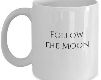 moon magick, moon magic, white ceramic mug, ceramic coffee mug, statement mugs, mugs, coffee mug, funny mugs, moon mug, ceramic mug
