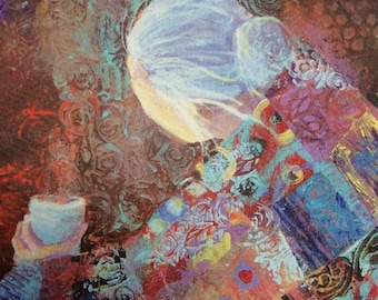 Art print, the Offering, quilted woman