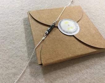 Bracelet, hematite and silver