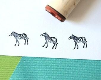 Zebra Rubber Stamp