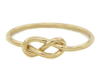 Figure 8 Gold Ring - Celtic Knot Ring - Infinity Ring - Eternity Ring - Promise Ring for Her - Dainty Ring - Gift for Her