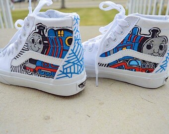 NEW- THOMAS The Train Customized Sneakers - Available in High Tops and Regular