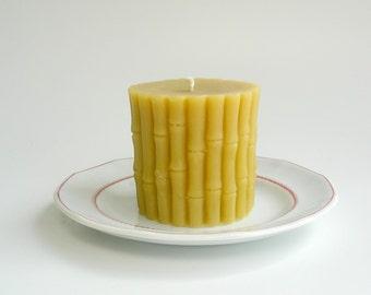 Beeswax Bamboo Pillar Candle