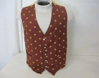 Steampunk Vest Cowboy Vest Western Vest Rockabilly Vest Large Vest