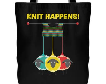 Gift For Wife Knitting Project Bag Project Bag for Knitting Funny Knitting Project Bag