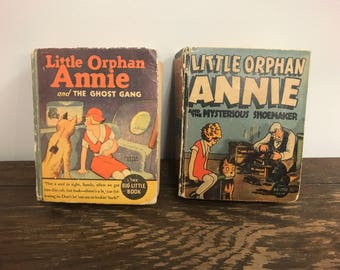 1932 Little Orphan Annie and the Mysterious Shoemaker + 1935 Annie and the GhostGang
