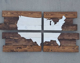 Pallet USA | USA Map | United States of America Sign | Pallet USA Map | Pallet Wood Map | usa pallet sign | Pallet wood sign