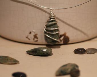 Sterling silver Ocean Jasper necklace
