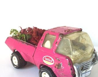 Pink Tonka Metal Truck