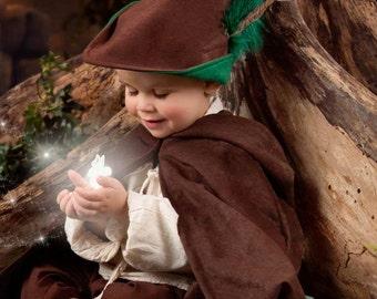 Toddler, Child or Adult  Robin Hood Woodsman Hat