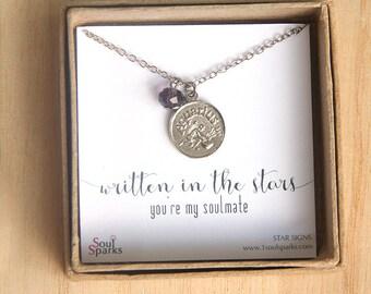 Aquarius Zodiac Sign Necklace, Aquarius Necklace, Aquarius Jewellery, Soulmate Necklace, Aquarius Zodiac Sign, February Birthday Gift