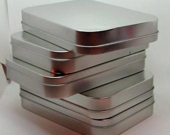 Five Tin Craft Boxes