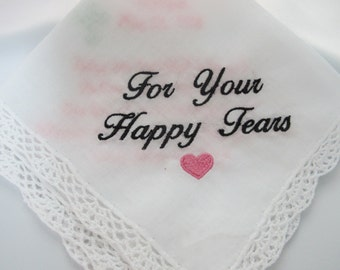 Embroidered Wedding Handkerchief