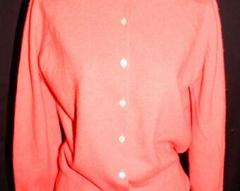 1950s Cardigan Sweater Sz 38 Vintage Retro Pinup