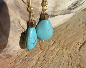 Turquoise and copper dangle