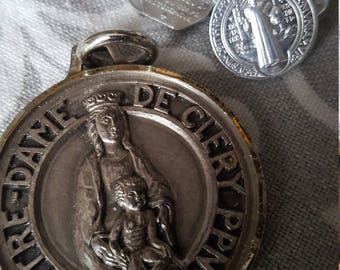 SALE Vintage French Religious Medal Collection
