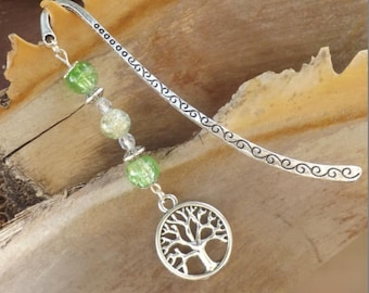 Tree of life bookmark, bookmark, Bohemian, ethnic, Tibetan, metal tree of life