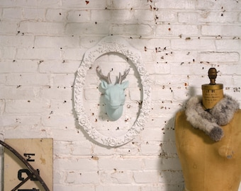 Painted Cottage Prairie Chic Taxidermy With or Without Rose Frame