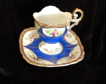 UCAGCo Demitasse Cup & Saucer, Made in Occupied Japan post-war mid-century