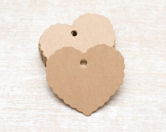 10 large heart tag