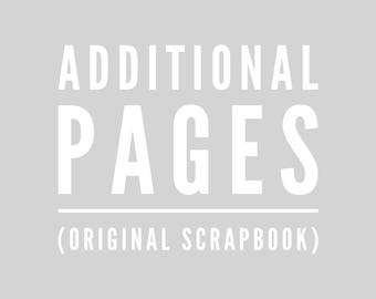 """Additional 15"""" Scrapbook Pages"""