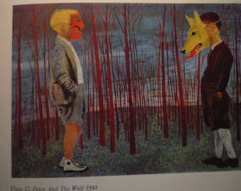 Vintage - Ben Shahn, Peter and the Wolf 1943 - American realism - for art lovers - color plate commissioned for Prokofiev opera framable