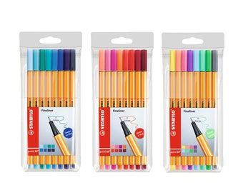 Stabilo Point 88 Fineliner 0.4mm Pen   Shades of Red   Pastel    8 Color Pens   Art Craft Drawing Assorted Colour