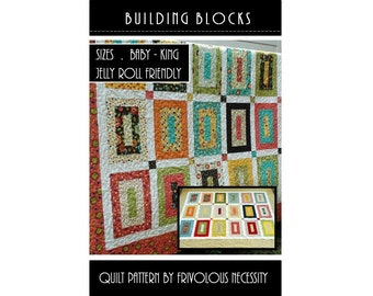 Quilt Pattern PDF Building Blocks All Sizes -- Jelly Roll Friendly