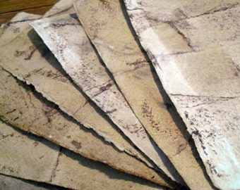 10 sheets aged paper, antiqued paper, handmade paper, recycled paper, eco friendly, decorative paper, collage paper, homemade paper