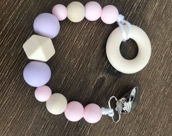 Teething toy for baby. Made in Quebec. Teething toy