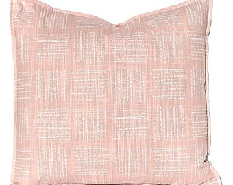 Pink Pillow Covers - Blush Pink PIllow Cover - Plaid Pillow Cover - Pink Cushion Cover - Blush Bedroom Decor - Sofa Pillow Covers