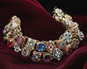 Victorian Bracelet, Renaissance Bracelet, Wedding Bracelet, Slide Bracelet, Wedding Jewelry, Vintage Bracelet, Renaissance Jewelry BR636