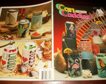Coozie Plastic Canvas Can Caddies Annie's Attic 87C70 Pattern Leaflet