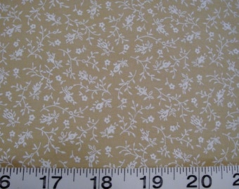Troy, Cream and Taupe Floral Sold by the Half Yard