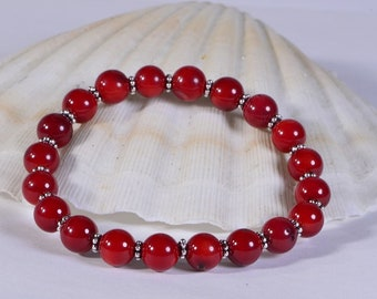 Bamboo Coral Bracelet Healing Jewelry Chakra Yoga Gift Bracelet Red Coral Bracelet