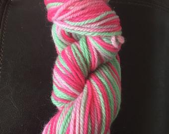Malibu, Hand Dyed, 100% Wool, Worsted Weight Yarn